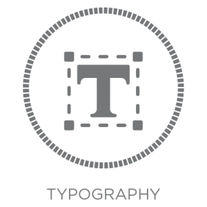 taylormade creative typography icon