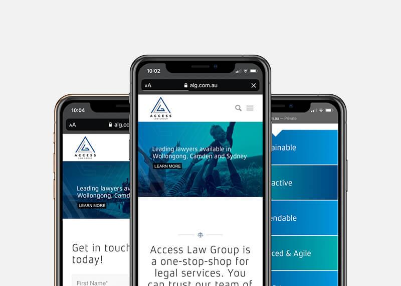 ALG Website Mobile Screens
